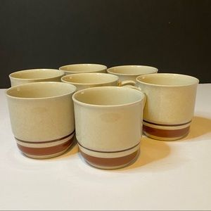 7 Vtg Chateau Hand Painted Coffee Mugs Made Japan